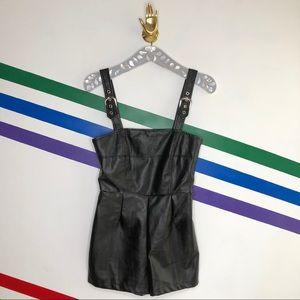 NEW Urban Outfitters faux leather romper